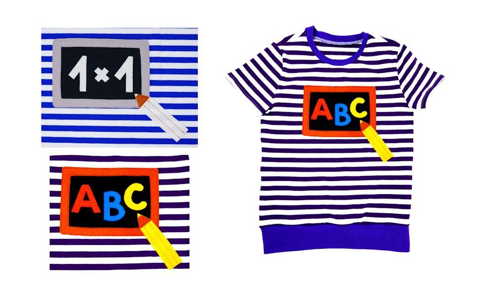 Shirt zur Einschulung – Applikation nähen